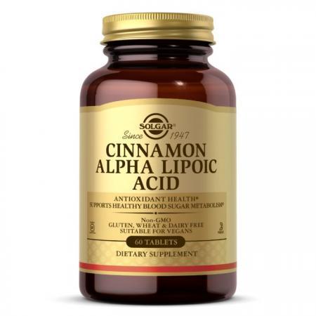 Solgar Cinnamon Alpha Lipoic Acid, 60 таблеток