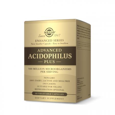 Solgar Advanced Acidophilus Plus, 60 вегакапсул