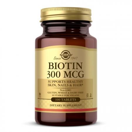 Solgar Biotin 300 mcg, 100 таблеток