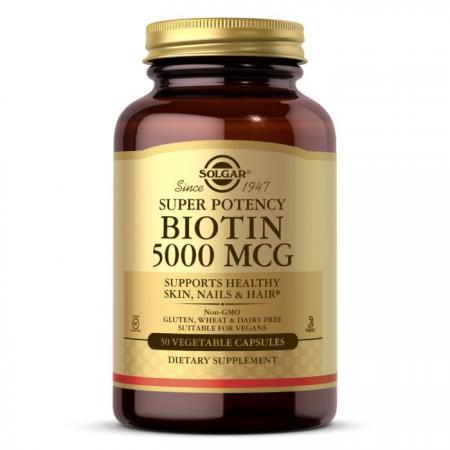 Solgar Biotin 5000 mcg, 50 вегакапсул