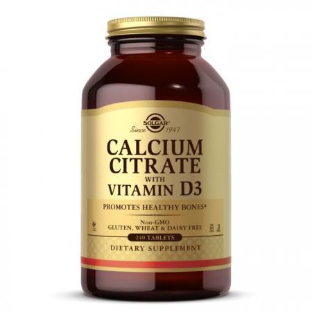 Solgar Calcium Citrate with Vitamin D3, 240 таблеток