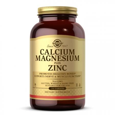 Solgar Calcium Magnesium Plus Zinc, 250 таблеток