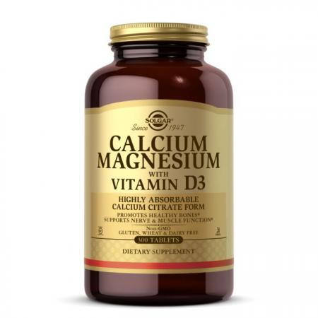Solgar Calcium Magnesium with Vitamin D3, 300 таблеток