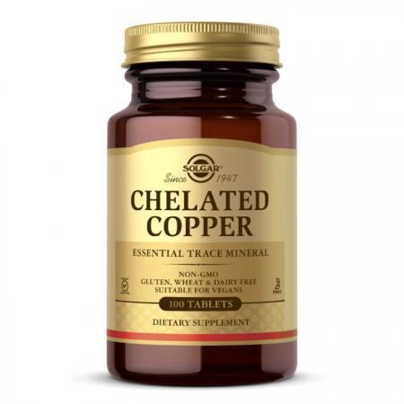 Solgar Chelated Copper, 100 таблеток