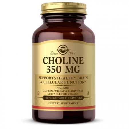 Solgar Choline 350 mg, 100 вегакапсул