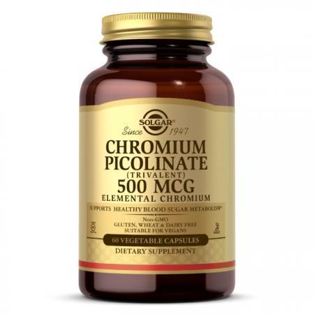 Solgar Chromium Picolinate 500 mcg, 60 вегакапсул
