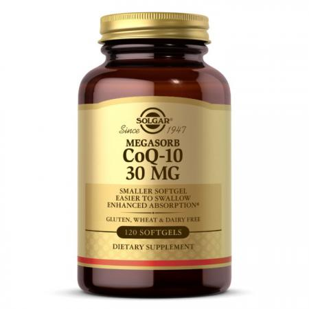 Solgar Megasorb CoQ-10 30 mg, 120 капсул