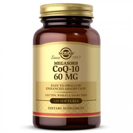 Solgar Megasorb CoQ-10 60 mg, 120 капсул
