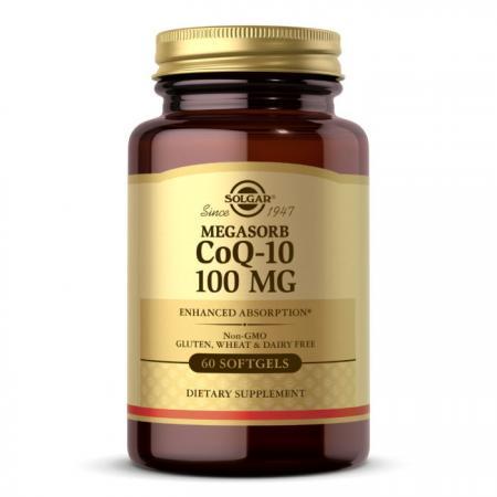 Solgar Megasorb CoQ-10 100 mg, 60 капсул