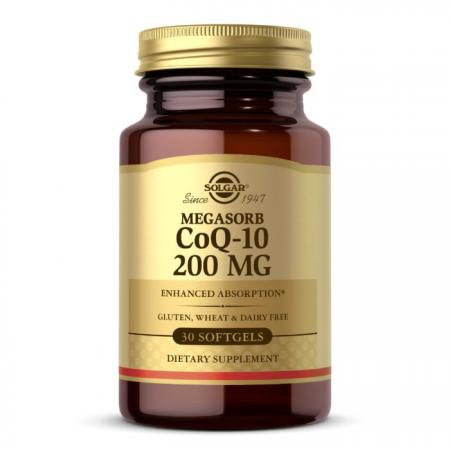 Solgar Megasorb CoQ-10 200 mg, 30 капсул