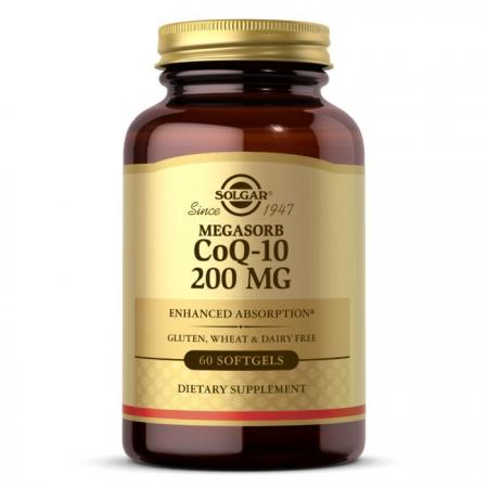 Solgar Megasorb CoQ-10 200 mg, 60 капсул