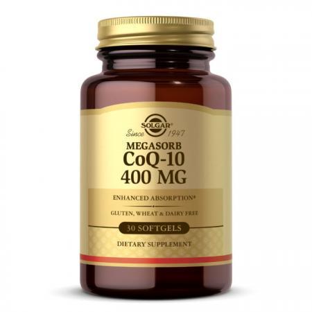 Solgar Megasorb CoQ-10 400 mg, 30 капсул