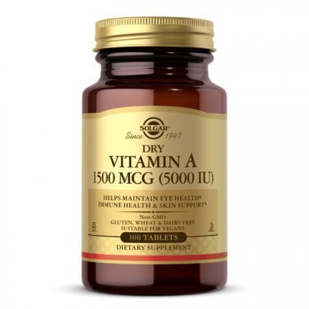 Solgar Dry Vitamin A 1500 mсg, 100 таблеток