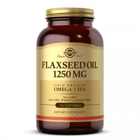 Solgar Flaxseed Oil 1250 mg, 100 капсул