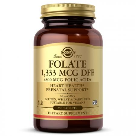 Solgar Folate 1333 mcg (Folic Acid 800 mcg), 250 таблеток