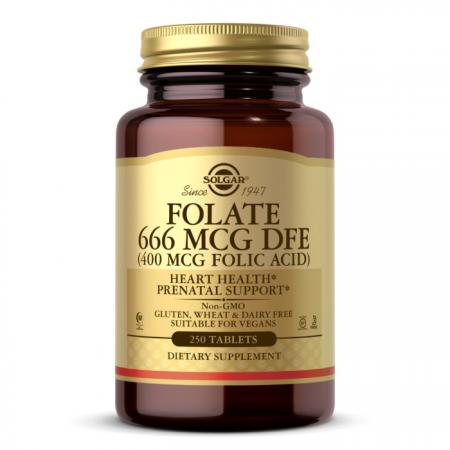Solgar Folate 1333 mcg (Folic Acid 800 mcg), 250 таблеток