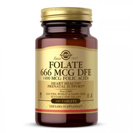 Solgar Folate 666 mcg (Folic Acid 400 mcg), 100 таблеток