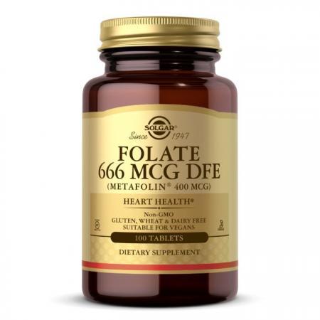 Solgar Folate 666 mcg (Metafolin 400 mcg), 100 таблеток