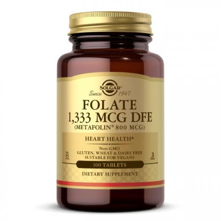 Solgar Folate 1333 mcg (Metafolin 800 mcg), 100 таблеток