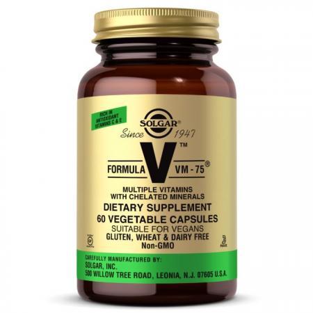 Solgar Formula V VM-75, 60 вегакапсул