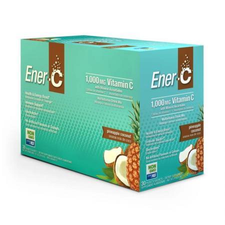 Ener-C Vitamin C, 30 пакетиков - ананас-кокос