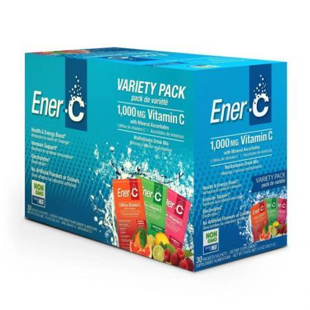 Ener-C Vitamin C, 30 пакетиков - асорти