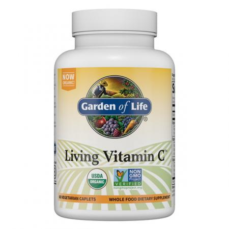 Garden of Life Living Vitamin C, 60 каплет