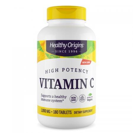 Healthy Origins Vitamin C 1000 mg, 180 таблеток