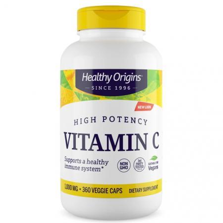 Healthy Origins Vitamin C 1000 mg, 360 вегакапсул