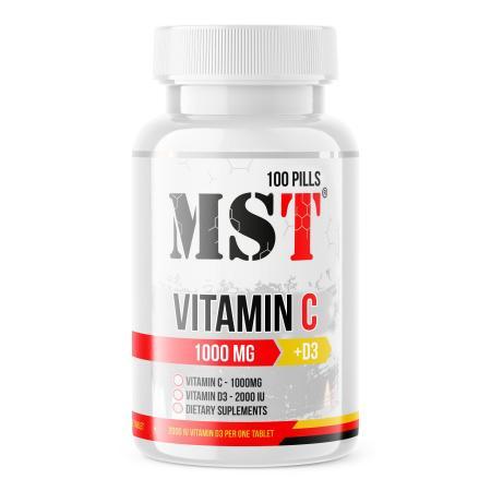 MST Vitamin C + D, 100 таблеток