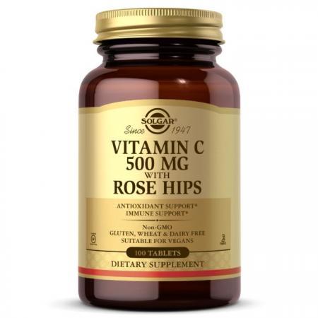 Solgar Vitamin C With Rose Hips 500 mg, 100 таблеток