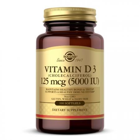 Solgar Vitamin D3 125 mcg, 100 капсул