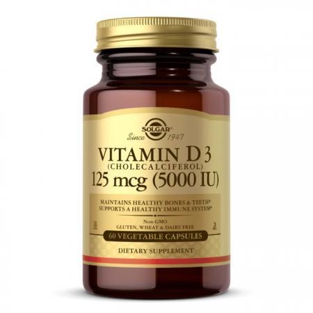 Solgar Vitamin D3 125 mcg, 60 вегакапсул