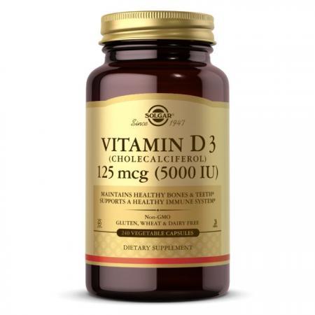 Solgar Vitamin D3 125 mcg, 240 вегакапсул
