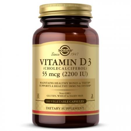 Solgar Vitamin D3 55 mcg, 100 вегакапсул