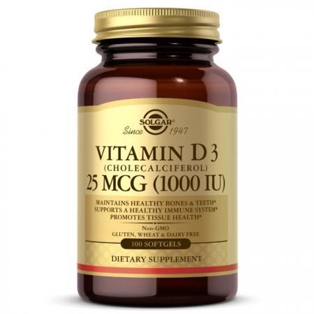 Solgar Vitamin D3 25 mcg, 100 капсул