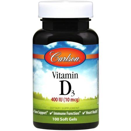 Carlson Labs Vitamin D3 400 IU, 100 капсул