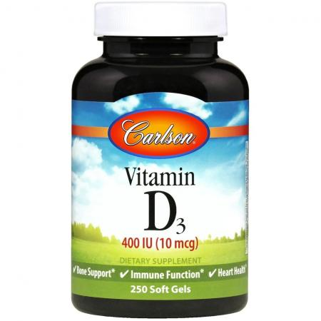 Carlson Labs Vitamin D3 400 IU, 250 капсул