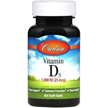 Carlson Labs Vitamin D3 1000 IU, 60 капсул