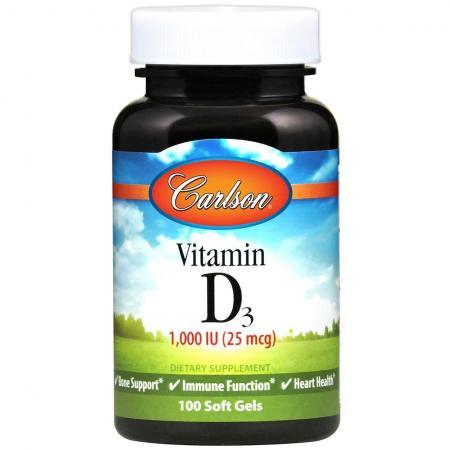 Carlson Labs Vitamin D3 1000 IU, 100 капсул
