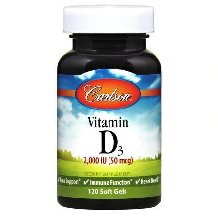 Carlson Labs Vitamin D3 2000 IU, 120 капсул