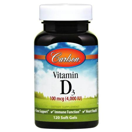 Carlson Labs Vitamin D3 4000 IU, 120 капсул