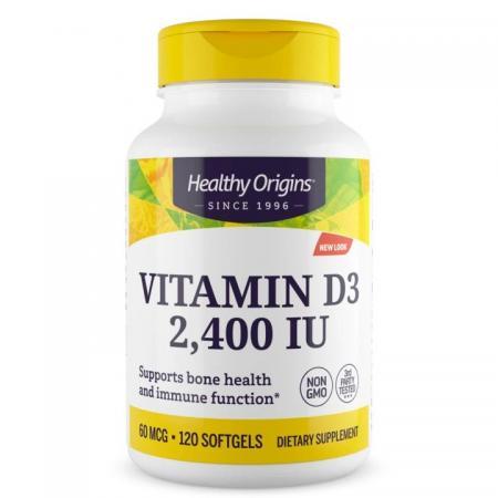 Healthy Origins Vitamin D3 2400 IU, 120 капсул new