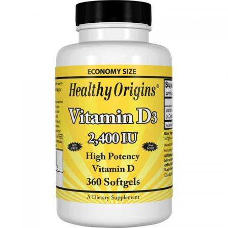 Healthy Origins Vitamin D3 2400 IU, 120 капсул new