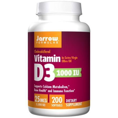 Jarrow Formulas Vitamin D3 1000 IU, 200 капсул