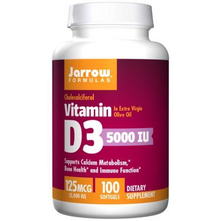 Jarrow Formulas Vitamin D3 5000 IU, 100 капсул