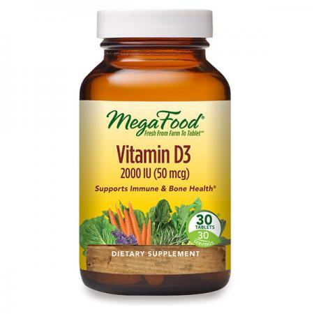 MegaFood Vitamin D3 1000 UI, 30 таблеток