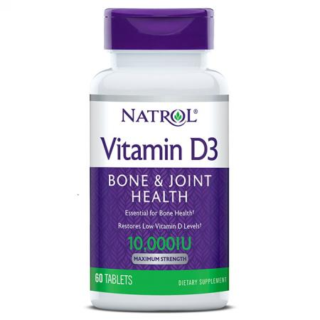 Natrol Vitamin D3 10000 IU Maximum Strength, 60 таблеток