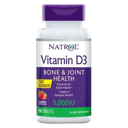 Natrol Vitamin D3 5000 IU Fast Dissolve, 90 таблеток