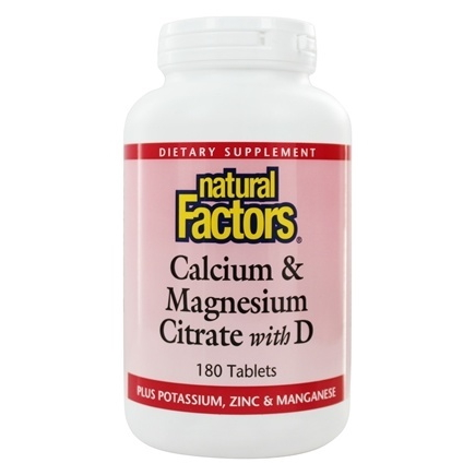 Natural Factors Calcium Magnesium Citrate Vitamin D, 180 таблеток